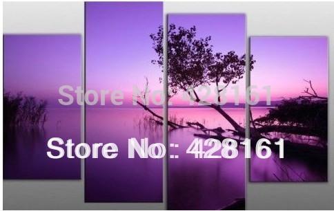 Oil Tree Paintings Tree Purple Oil Painting