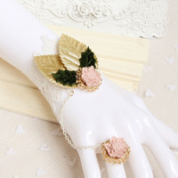 Free Shipping Wedding Jewelry Rhinestone Gorgeous Charming Bride Bracelet Connected to Ring Fashion Bracelet(SA-605-35)