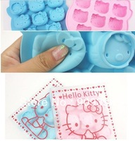 2X ice maker silicone ice mould mold baking pan tray Ice Freeze Party Drink Mould cake Mold hello kitty 2clors 8-tray