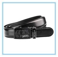 New Genuine Leather of Automatic Men Strap Free Size Cowskin Split Leather Men Waist Black Belt Alloy Buckle 1.1-1.25M 7A1100780