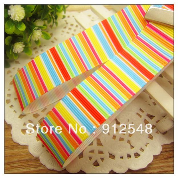 """free shipping 7/8"""" 22mm color bars printed ribbon grosgrain ribbon,Garment accessories,Hair ribbon,mdxd020(China (Mainland))"""