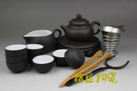 Yixing purple clay tea set set purple kung fu tea