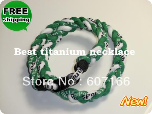 custom titanium sports necklace with free shipping(China (Mainland))