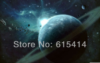 "12 Universe asteroids field 22""x14"" Inch wall Poster with Tracking Number"