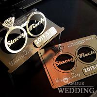Wedding decoration invitations card personality invitation card stereo metal folding wedding invitation card business card