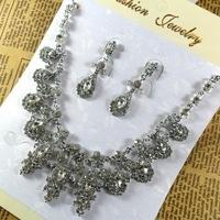 Retail costume jewelry sets wedding jewelry set indian bridal  jewelry , bulk order 100 piece / lot  FREE shipping