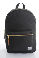Herschel settlement gold zipper double-shoulder backpack black