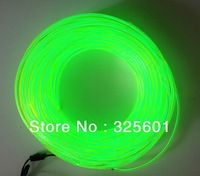 High brightness 5mm diameter 30m in 10 colors Neon Light Glow EL Wire Rope Tube / el wire neon rope ( No inverter )