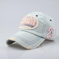 Star tannase denim letter baseball cap male women's summer outdoor lovers cap hat