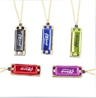 2014 Hot Sale Special Offer Freeshipping Free Shipping!folk Master Mini Harmonica Hole 8 Tone Necklace C Wholesale Gifts 10pcs