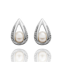 Free shipping,18k gold plated earring,High quality Pearl earrings,wholesale fashion jewelry earrings 18krgpe427