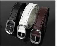 Free Shipping, 2013 New Fashion Design Men's Belt, PU & Cowskin Unisex Strap , 3 Colors, Drop Shipping,#hm704