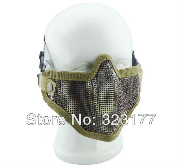 4PCS Colorful New Design Air Soft Metal Mesh Outdoor Sports CS Gaming Half Face Mask, Air Flow World Wide War Game Masks(China (Mainland))