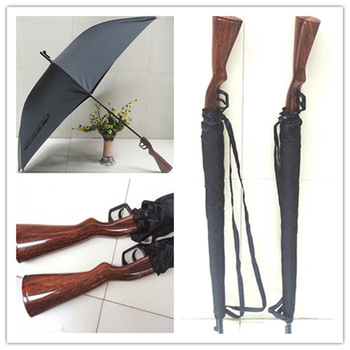 Free Shipping! Ultralarge lengthen rifle umbrella windproof gun belt umbrella poleaxe rifle umbrella