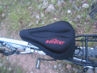 Bicycle seat cover cushion cover silica gel cushion cover comfortable sponge after the cushion ride