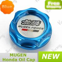 FREE SHIPPING Mugen Aluminium Oil cap Fuel Tank Cap Cover tank Blue/red/black/silver/golden for honda