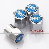 Free shipping!(4PCS)metal Tire Valve Stem Caps easy DIY decoration,Car Logo emblem   Tire Valve Caps for FIAT,VC028