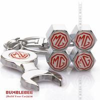 Free shipping!(4PCS)metal Tire Valve Stem Caps easy DIY decoration,Car Logo emblem   Tire Valve Caps for M*G,VC197