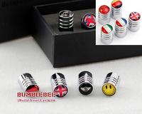 Free shipping!(4PCS)metal Tire Valve Stem Caps easy DIY decoration,Car Logo emblem   Tire Valve Caps for flag,VC273