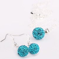 New Arrival Shamballa Set Shamballa Crystal Jewelry Set Fashion Crystal Wedding Jewelry qcce zlxc