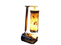 Hand-made bamboo craft lamp
