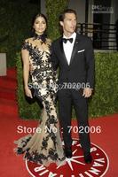 2014 Hot Sale Special Offer Zuhair Murad Transparent Neckline Celebrity Dresses Zm19 Camila Alves 2011 Vanity Fair Oscar Party