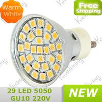 New Aluminum Saving Energy Lamp GU10 Pure White and warm white 29pcs 5050SMD  400lm  220V~240V Led Light 360lm Bulb