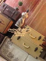Extra large 66cm vintage suitcase travel bag keester suitcases decoration props