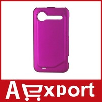 Open Face Style Frosted Hard Rubber Back Cover Case for HTC G12 (Pink) free shipping