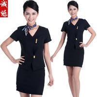 Front desk uniform summer stewardess uniforms professional set work wear front desk set