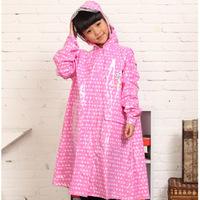 2013 free shipping Child raincoat thickening long design white brief fashion raincoat 6227 child raincoat