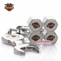 Free shipping!4PCS)metal Tire Valve Stem Caps easy  decoration Logo emblem   Tire Valve Caps for Harley-motorcycle 250