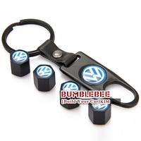 Free shipping!(4PCS)metal Tire Valve Stem Caps easy DIY decoration,Car Logo emblem   Tire Valve Caps for VW,VC312