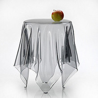 Table cloth soft glass pure transparent ultra-thin waterproof disposable dining table cloth