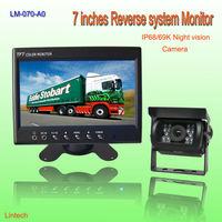 Night vision 7 inch car reversing camera system