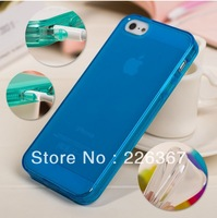 Hot Sell Simple Transparent Silica Gel Protective Case Cover For iPhone 5