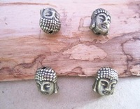 Min order is $10 (mixed order) Antique bronze Buddha charm connector 9mmx11mm 30pieces/lot