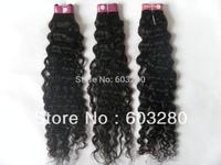 "Brazilian Virgin hair wefs/tissage- Deep Curl 12""14""16""18""20""22""24""26""28""  #1B natural black 300Gram"