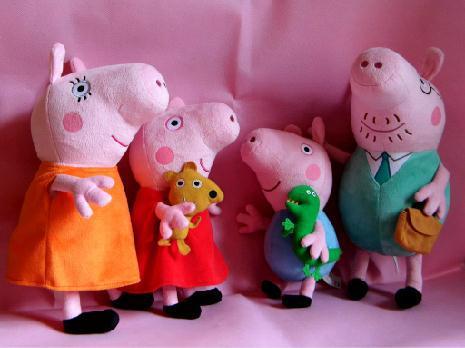 hard wash peppa pig & george pig plush Mom & Daddy large size Peppa pig Family Plush cute kids toddler toys pink(China (Mainland))