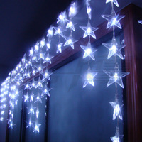 Holiday lights crystal bead curtain entranceway partition decoration 4 meters five-pointed star led curtain string of lights