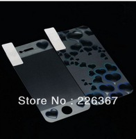 3D Heart Effect Design Screen Protector films  Front Back Full Body for iPhone4 4S 4G, Free & Drop Shipping