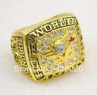 Men ring,Free Shipping 18K gold 1992 BELL Toronto Blue Jays World Championship Ring Size 11