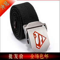 Super man thickening automatic buckle canvas belt fashion belt general canvas strap