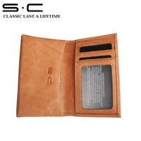 New  style leather wallet  case for phone 4 5s case brown color Ameriacan style mobile-phone case with retail box free shipping