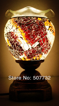 2013 Wholesale Hot Sale safe packing Mosaics electric aroma oven ,oil lamps decorative lamps ,Aromatherapy lamp -MS-D006