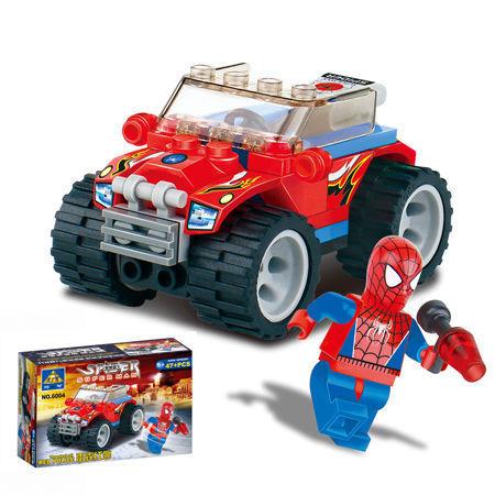Enlighten store sales 6004 toys educational Spider Man kazi police car DIY toys building block sets,children toys free Shipping(China (Mainland))