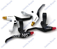 Free Shipping brake lever,bicycle brake,1 pair lever, crank levers,RA-372D,black and siver,for MTB bike