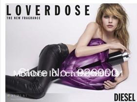 Free Shipping! Original packing 100% New Loverdose women perfume women's fragrance 75ml