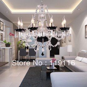 Crystal Chandelier with 8 Lights - Graceful Candle Featured Style(China (Mainland))