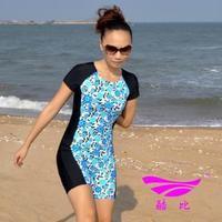 Plus size short sleeves one piece sun protection swimwear 5 pants long swimwear 11052